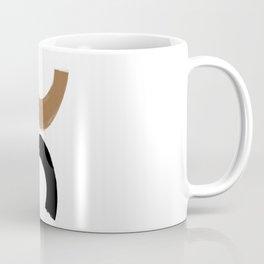Beige and Black Collage Coffee Mug