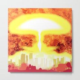 Atomic Bomb Heat Background Metal Print