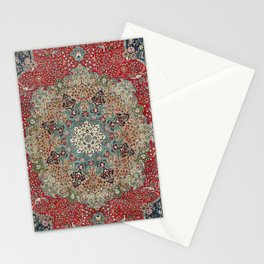 Antique Red Blue Black Persian Carpet Print Stationery Cards