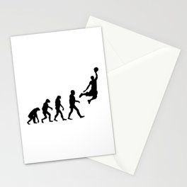 Basketball Evolution Stationery Cards
