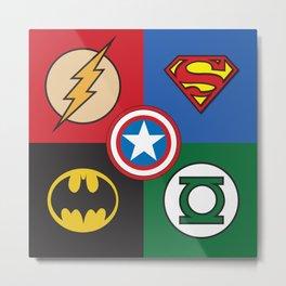 Superhero Logos No. 2 Metal Print