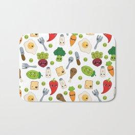Cute Kawaii Food Pattern Bath Mat
