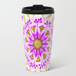 Floral Grove Mandala Travel Mug