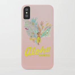 Aloha, Hawaii (Pink) iPhone Case