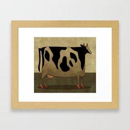 High Heel Cow Framed Art Print