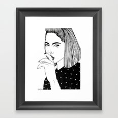 Inktober 01_2016 Framed Art Print