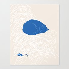Blue Cat poster Canvas Print