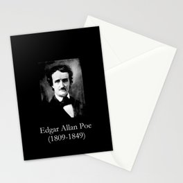 Portrait of Edgar Allan Poe Stationery Cards