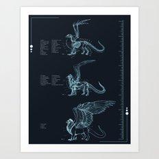 Gryphon Anatomy Art Print