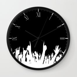 Audience Poster Background Wall Clock