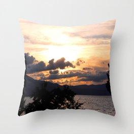 Dramatic Sun - South Lake Tahoe, California Throw Pillow