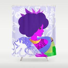 Queen's Robe Shower Curtain
