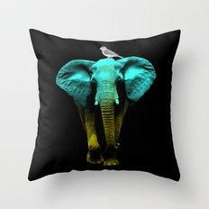 Friends for Life fluro Throw Pillow