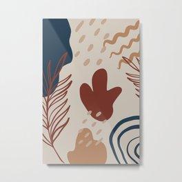 Abstract Shape Play Metal Print