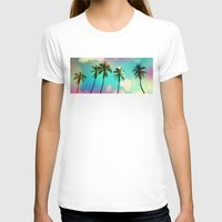 palm trees T-shirts featuring Palm trees  by mark ashkenazi
