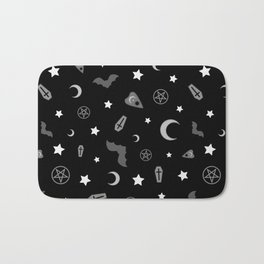 goth occult pattern Bath Mat