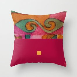 pink&blue1 Throw Pillow