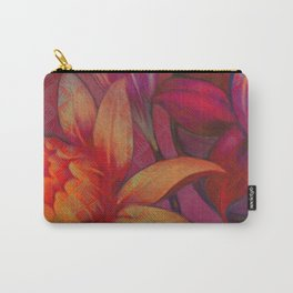 """Retro Giant Floral Pattern"" Carry-All Pouch"