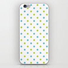 Fun Dots blue green iPhone & iPod Skin