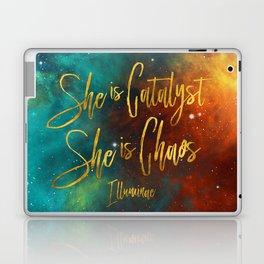She is catalyst. She is Chaos. Illuminae Laptop & iPad Skin