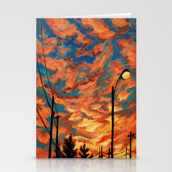 Street Meets Sky  Stationery Cards
