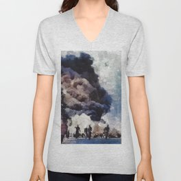Pearl Harbor, WWII Unisex V-Neck