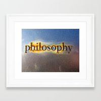 philosophy Framed Art Prints featuring Philosophy by Rachel Chelly Thompson