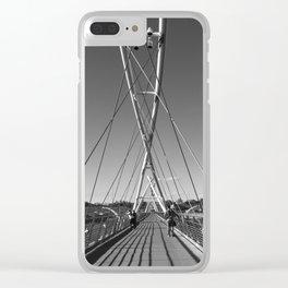 Tempe Town Lake Foot Bridge Clear iPhone Case
