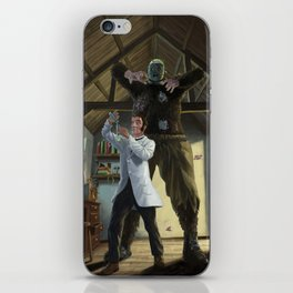 mad professor's monster loose in victorian science lab iPhone Skin