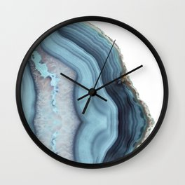 Light Blue Agate Wall Clock