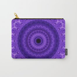 Mandala in violet and prurple tones Carry-All Pouch
