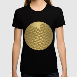 BRUSHED GOLD TRIANGLES T-shirt