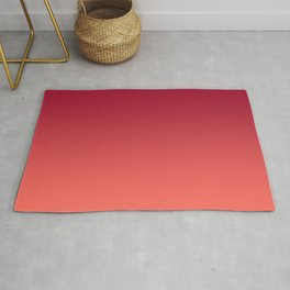 Living Coral Jester Red Gradient Ombre Pattern Bordo Burgundy Watercolor Texture Rug