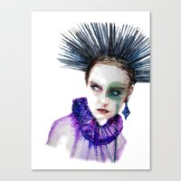 clown Canvas Prints featuring Clown by Andreea Maria Has