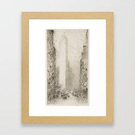 Vintage Flatiron Building, NYC - Childe Hassam, 1916 Framed Art Print