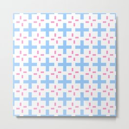 symmetric patterns 105 pink and blue Metal Print