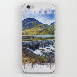 Snowdonia Tryfan Painting iPhone Skin