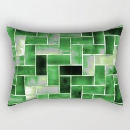 Aromantic Pride Enameled Parquet Tiles Pattern Rectangular Pillow