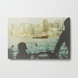 Hong Kong Ferry Ride Metal Print