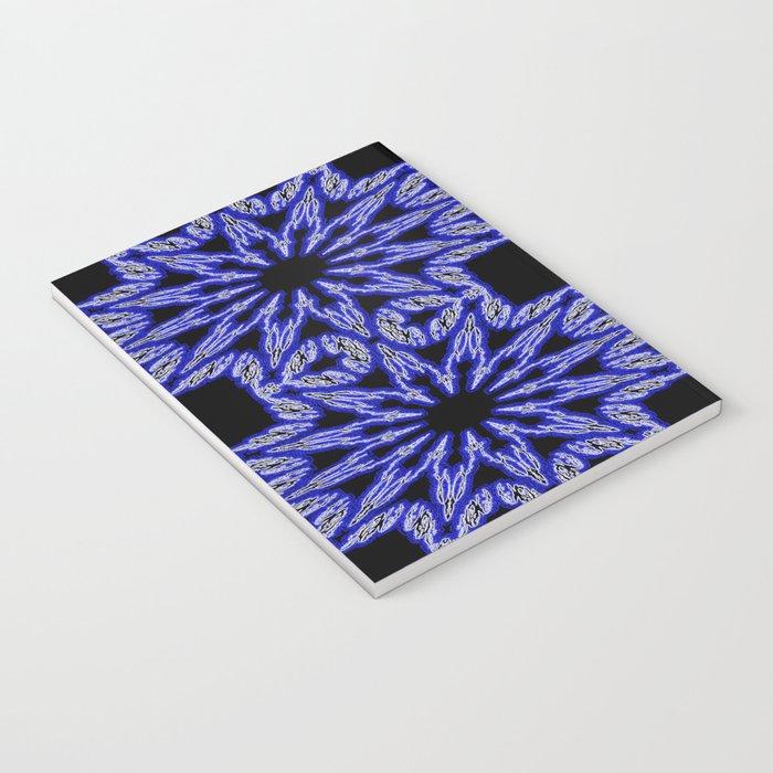 Blue & Black Electric Color Burst Notebook