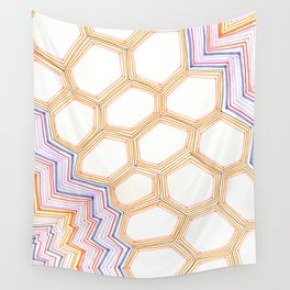 Honeycomb Vibes Wall Tapestry