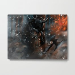 Vikings on Assault Metal Print
