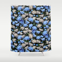 Blue Mums Design — L Diane Johnson Shower Curtain