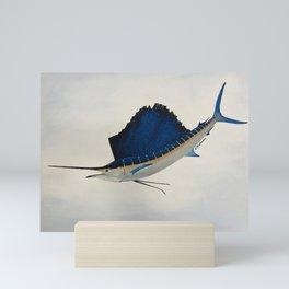 Sailfish in flight Mini Art Print