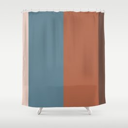Parable to Behr Blueprint Color of the Year and Accent Colors Vertical Stripes 25 Shower Curtain