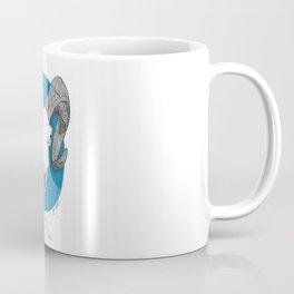 Blue Skull Coffee Mug