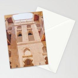 Courtyard inside Jabreen Castle, Bahla, Oman Stationery Cards