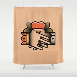 Friendship Tattoo Shower Curtain
