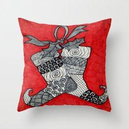 Christmas Stockings Throw Pillow
