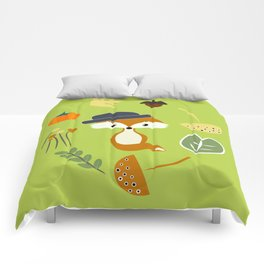 Cute fox in autumn II Comforters